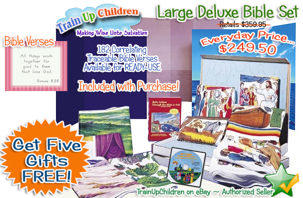 Betty Lukens Through the Bible in Felt Large Deluxe Set - Special offer from Train Up Children!